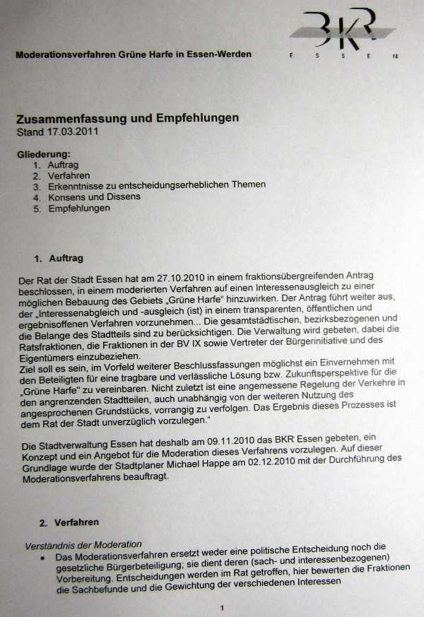 17.3.2011 Grüne Harfe Empfehlungen S.1